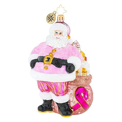 Christopher Radko Pretty in Pink Breast Cancer Christmas Ornament