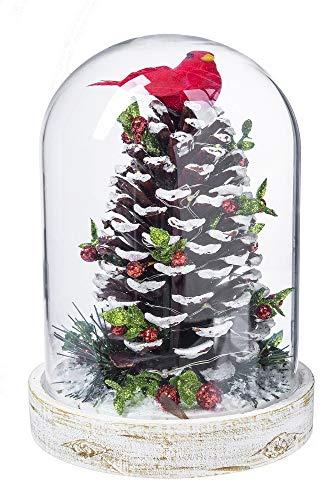 Ganz Light up Pinecone Cloche Decorative Ornament