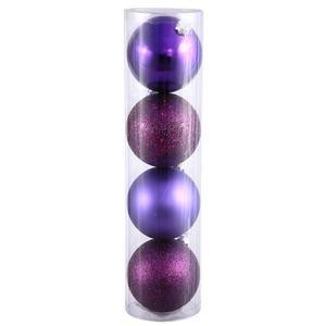 Vickerman 2.4″ Plum 4 Finish Ball Ornament 24 per Box