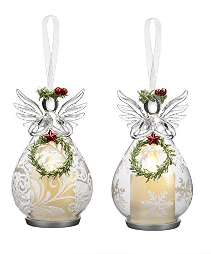 Ganz Angel Votive Hanging Ornaments Set of 2