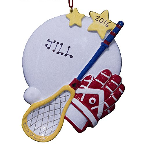 Rudolph and Me Personalized Lacrosse Playing Christmas Ornament 2019