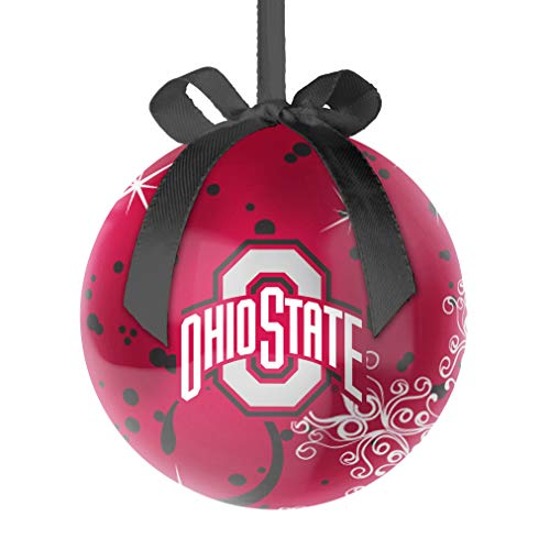 Topperscot NCAA Ohio State Buckeyes Decoupage Ball Holiday Ornament