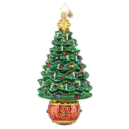 Christopher Radko Hand-Crafted European Glass Christmas Decorative Figural Ornament, Truly Terrific Tree