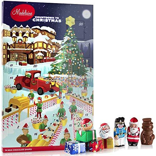 Madelaine Chocolates Santa's Workshop Christmas Countdown Advent Calendar, Filled With (6 oz – 170 g) Solid Premium Milk Chocolate (1 Pack)