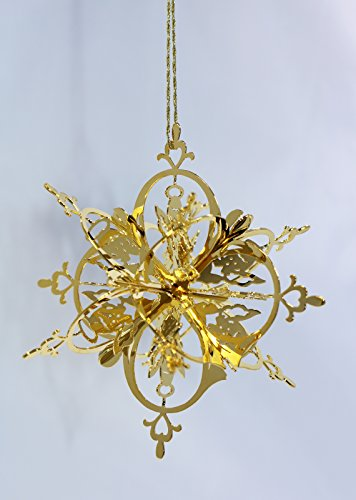 Douglas John Inc New 24K Gold Angel Snowflake Christmas Ornament