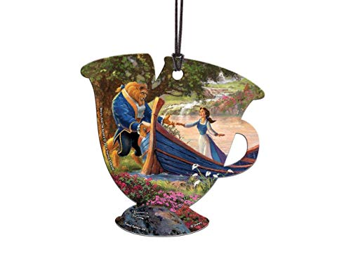 Trend Setters Disney – Beauty and The Beast II – Picnic – Thomas Kinkade – Chip Teacup Shaped Hanging Acrylic Print