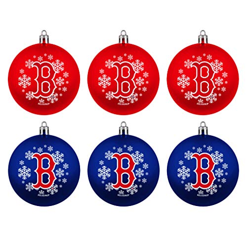 Topperscot MLB Boston Red Sox Home & Away Shatter Proof Ball Ornament Gift Set of 6
