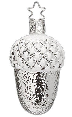 Inge Glas Oak Nice Acorn 1-252-15b German Glass Christmas Ornament Gift Box