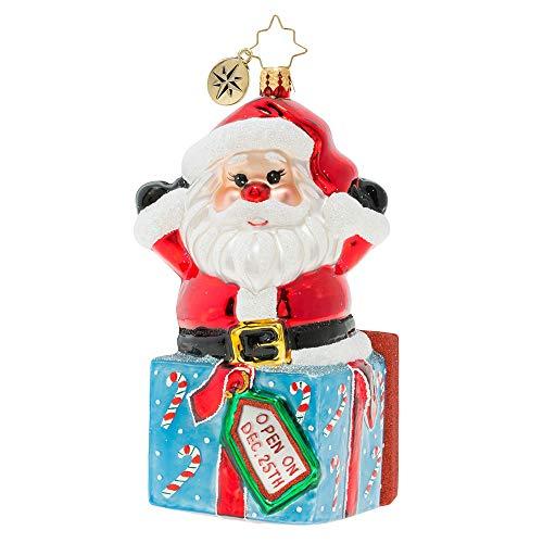 Christopher Radko Hand-Crafted European Glass Christmas Decorative Figural Ornament, A Warm Hug from Santa!