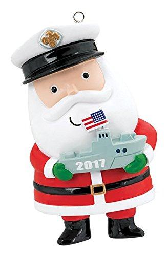Carlton Heirloom Ornament 2017 Proud to Serve – U.S. Navy Santa – #CXOR065M
