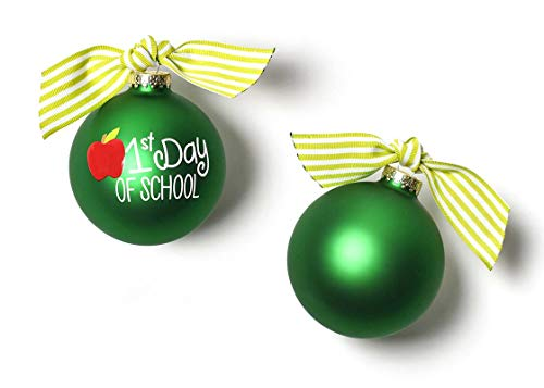 Coton Colors 100 MM First Day of School Glass Ornament