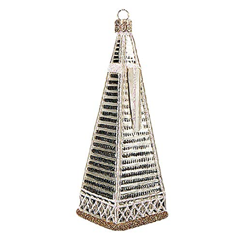 Pinnacle Peak Trading Company San Francisco Transamerica Pyramid Tower Polish Glass Christmas Tree Ornament