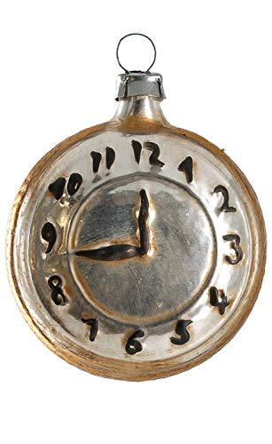 Marolin Pocket Watch MA2011200 Glass Christmas Ornament w/Gift Box