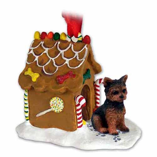 Conversation Concepts Yorkshire Terrier Gingerbread House Christmas Ornament Puppy Cut – DELIGHTFUL!