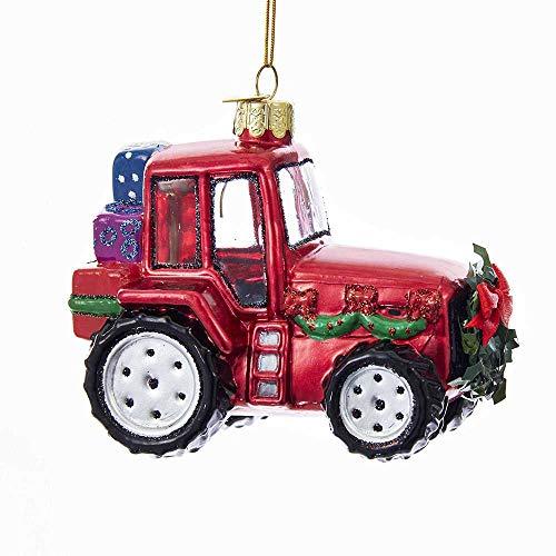 Kurt Adler Kurt S. Adler Noble Gems Christmas Tractor Glass Ornament