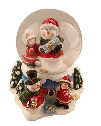 Lightahead Musical Christmas Snowman Water Ball Snow Globe with Music 100 MM in Polyresin