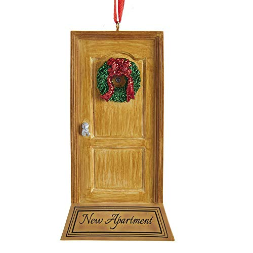 "Kurt Adler ""New Apartment Door Ornament for Personalization"