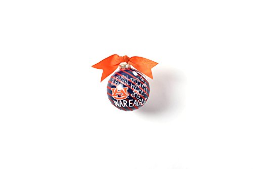 Coton Colors 100 MM Auburn Word Collage Glass Ornament