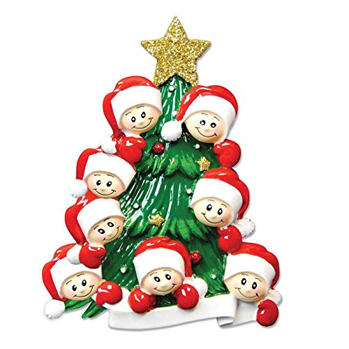 Polar X Christmas Tree with 8 Faces Personalized Christmas Ornament (Family Series)