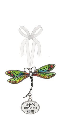 Ganz All Good Things are Wild and Free Dragonfly Ornament