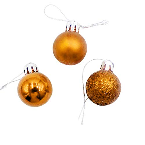 Fine 24 PC DIY Ornament Balls, Christmas Ball Ornaments,Christmas Decorations Tree Ball for New Years Present Holiday Wedding Party Assorted for Holiday and Party (Beige)