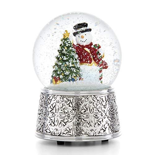 Reed & Barton 886532 Vintage Snowman Musical Snowglobe