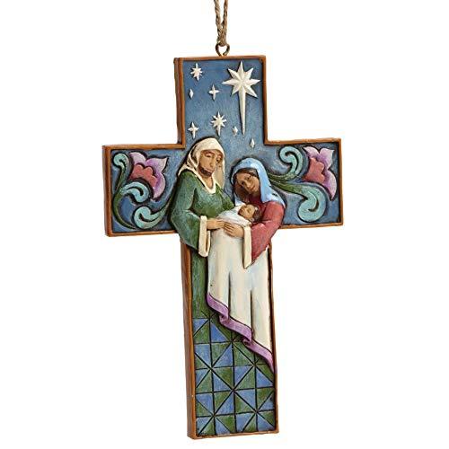 Enesco-Gift 4055129 Cross-Shaped Holy Family Ornament, Multicolor