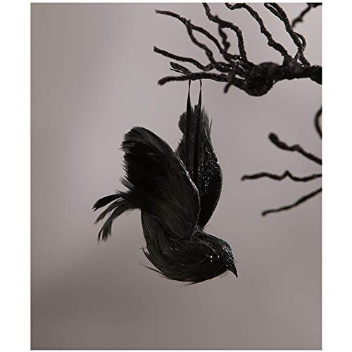 Bethany Lowe Feathered Black Crow Mini Halloween Holiday Decor Figurine Ornament