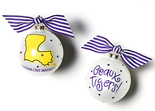 Coton Colors Louisiana State University State 100MM Ornament