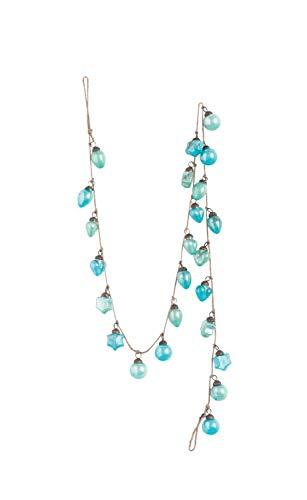 Creative Co-op Blue Glass Garland Ornament