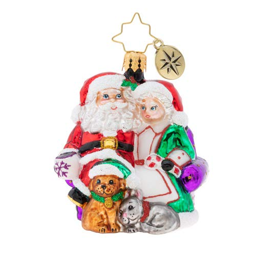 Christopher Radko Mr. & Mrs. Clause Pause Gem Christmas Ornament