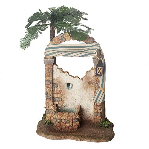 Fontanini, Nativity Building, Water Fountain with Water Pump, 7.5″ Scale, Collection, Handmade in Italy, Designed and Manufactured in Tuscany, Polymer, Hand Painted, Italian, Detailed
