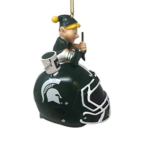 Spectrum Deluxe NFL/NCAA Team Elf Ornament (Michigan State Spartans)