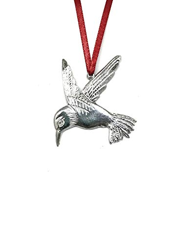 947 Hummingbird Keepsake Holiday Christmas Ornament Pewter