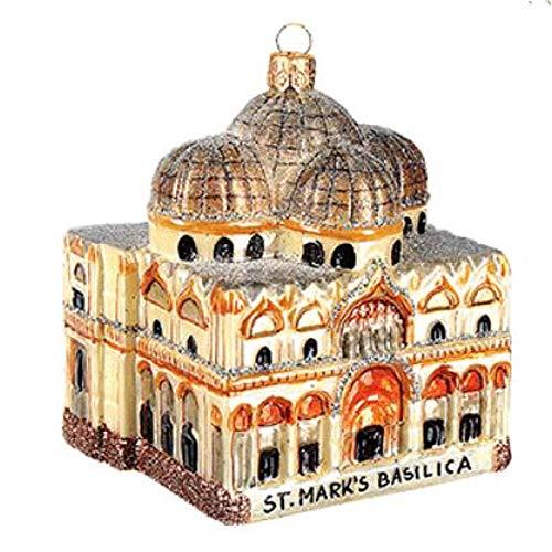 Pinnacle Peak Trading Company St Saint Marks Basilica Polish Glass Christmas Ornament Venice Italy Made Poland