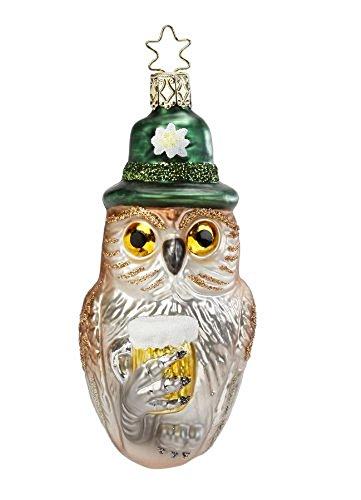 Inge Glas OWL HAVE A BIER Glass Ornament Beer Wisdom 105113
