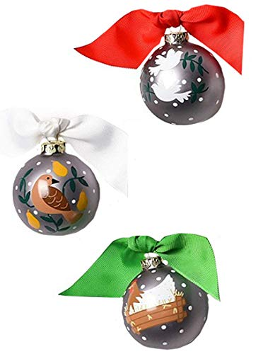 Coton Colors 12 Days of Christmas – Set of 12 Glass Ornaments