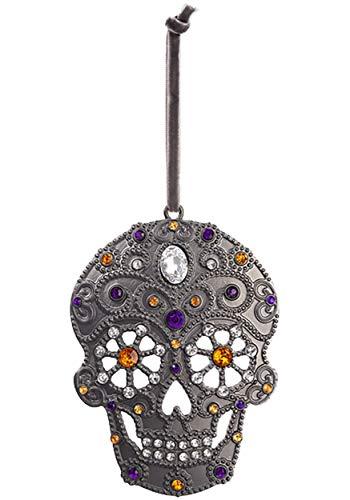 Ganz Spooky Sugar Skull Ornament Standard