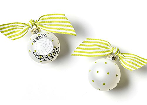 Coton Colors Volleyball Glass Ornament