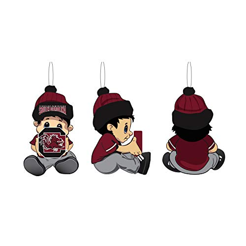 Team Sports America NCAA University of South Carolina Remarkable Adorable Lil Fan Christmas Ornament – 2″ Long x 2″ Wide x 3″ High