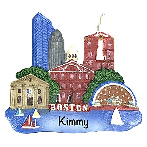 Holiday Traditions Boston Landmarks – Unique Christmas Tree Ornament – Special Keepsake – Custom Vacation Decoration – Personalization Included