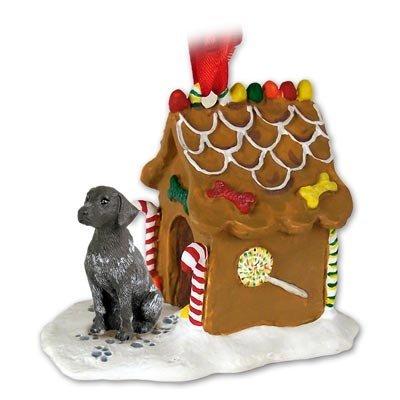 Eyedeal Figurines German Short Hair Pointer Dog New Resin Gingerbread House Christmas Ornament 67