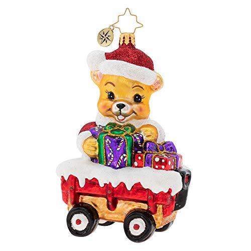 Christopher Radko Santa Bear Delivery! Christmas Ornament
