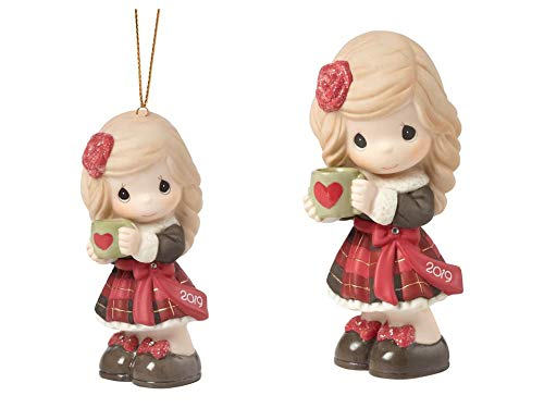Precious Moments Dated 2019 Girl Figurine and Ornament Bundle, Multi