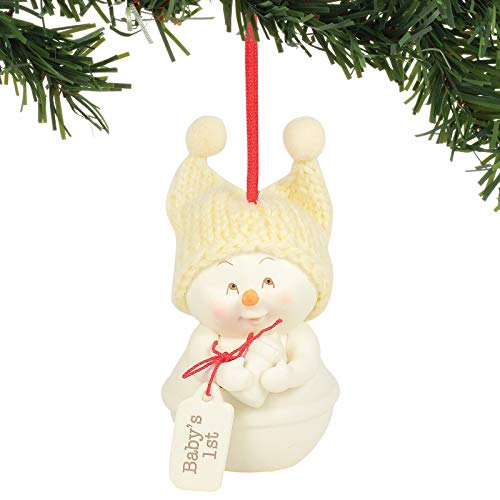 Department 56 Snowpinions Baby's 1st Hanging Ornament, 3 Inch, Multicolor