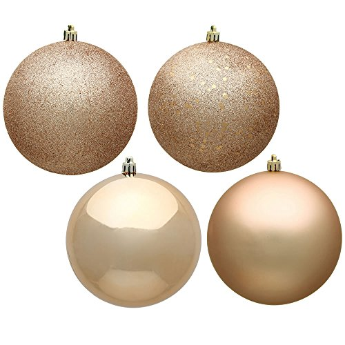 Vickerman Ball Ornament, 1″, Café Latte