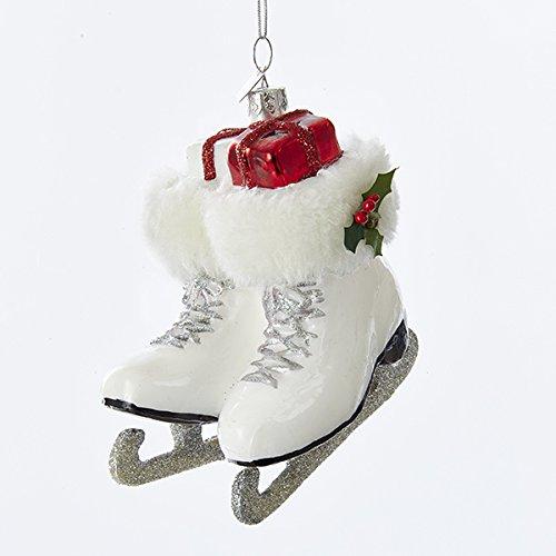 Kurt Adler Noble Gems Ice Skate Boots Ornament