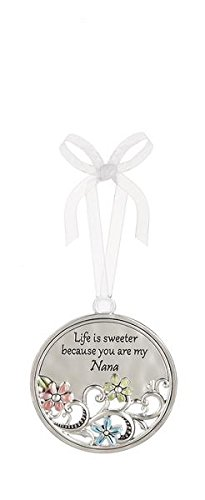 Life is Sweeter Because You Are My Nana Circular Metal Car Charm – By Ganz