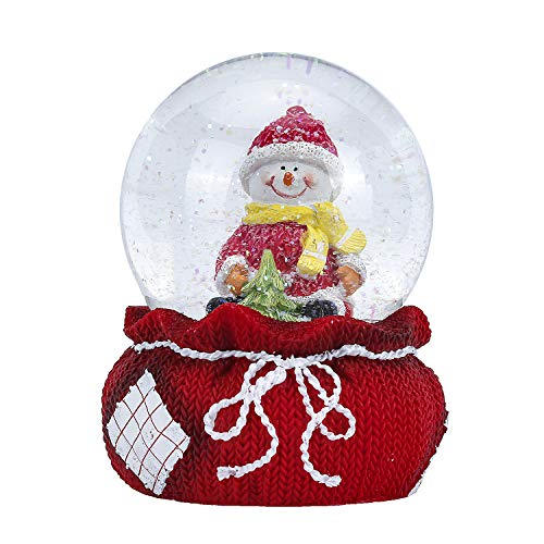 APELPES Snow Globe Crafts- Sculptured Resin Water Ball – Christmas Valentine's Day Birthday Holiday New Year's Gift (Diameter 100mm, Snowmen)
