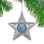 Detroit Lions Silver Star Ornament